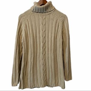 Carolyn Taylor chunky knit sweater turtleneck med